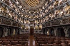 Teatro Bibiena em Mantua Fotos de Stock