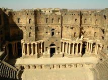 Teatro in Bosra, Siria Fotografia Stock Libera da Diritti