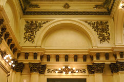 Teatro Colon. Arches of the second storey visible from the ground floor at the Teatro Colon in Buenos Aires Stock Image