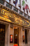Teatro Comunale Carlo Goldoni stockfotografie