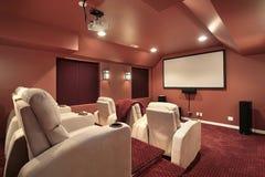 Teatro con las paredes rojas Foto de archivo libre de regalías