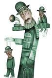Teatro con le marionette Fotografia Stock Libera da Diritti