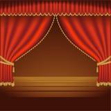 Teatro Courtains 01 Fotografia de Stock Royalty Free