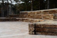 Teatro d'annata di legno fotografia stock