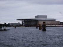 Teatro da ópera - Copenaghen - Dinamarca imagem de stock royalty free