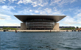 Teatro da ópera de Copenhaga Fotografia de Stock Royalty Free