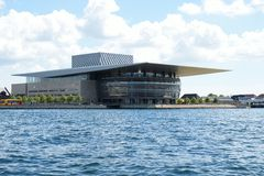 Teatro da ópera de Copenhaga Dinamarca Imagem de Stock Royalty Free