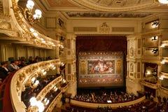 Teatro da ópera de Dresden interno Fotos de Stock