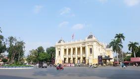 Teatro da ópera de Hanoi imagens de stock