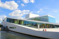 Teatro da ópera de Oslo Fotos de Stock