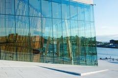 Teatro da ópera de Oslo, Noruega imagem de stock