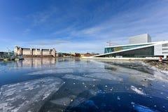 Teatro da ópera de Oslo - Noruega Fotos de Stock