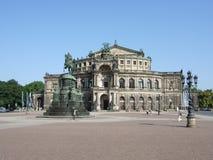 Teatro da ópera de Semper, Dresden Fotos de Stock Royalty Free