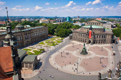 Teatro da ópera de Semper, Dresden Imagens de Stock Royalty Free
