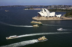 Teatro da ópera de Sydney - Austrália imagens de stock royalty free