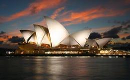 Teatro da ópera de Sydney em Austrália Fotografia de Stock