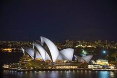 Teatro da ópera de Sydney em Austrália Foto de Stock