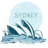 Teatro da ópera de Sydney, Sydney, Austrália. Imagens de Stock