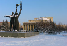 Teatro da ópera e de bailado de Novosibirsk fotos de stock