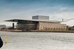 Teatro da ópera em Copenhaga fotos de stock