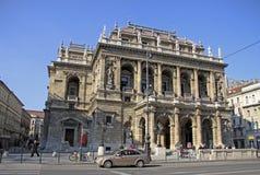 Teatro da ópera húngaro do estado Budapest, Hungria Fotografia de Stock Royalty Free
