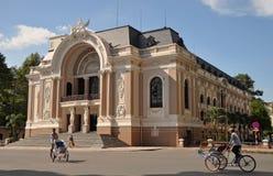 Teatro da ópera, Ho Chi Minh City, Vietnam Imagens de Stock Royalty Free