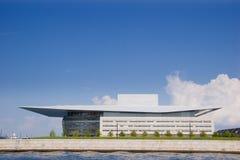 Teatro da ópera moderno em Copenhaga Imagens de Stock