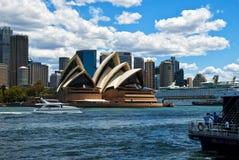 Teatro da ópera Sydney, Austrália fotografia de stock royalty free