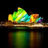 Teatro da ópera vívido de Sydney Imagem de Stock