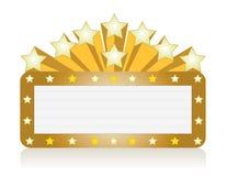 Teatro da estrela/sinal de néon do filme Foto de Stock Royalty Free