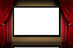 Teatro da noite da inauguração dos filmes do estágio do indicador do cinema ilustração stock