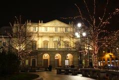 Teatro da ópera de La Scala, Milão, Italy Fotografia de Stock
