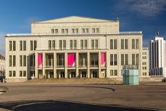 Teatro da ópera Leipzig Foto de Stock Royalty Free