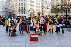 Teatro da rua, Lyon, França Foto de Stock Royalty Free