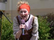 Teatro da rua para comemorar Day-8 das crianças fotos de stock royalty free
