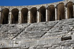 Teatro de Aspendos, Antalya. Imagem de Stock Royalty Free