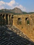 Teatro de Aspendos en Turquía Fotos de archivo libres de regalías