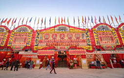 Teatro de bambu ocidental de Kowloon em Hong Kong Fotografia de Stock Royalty Free