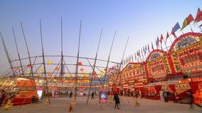 Teatro de bambu ocidental de Kowloon em Hong Kong Fotos de Stock Royalty Free