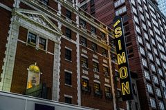 Teatro de Broadway imagem de stock royalty free