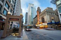 Teatro de Chicago. Fotografía de archivo libre de regalías