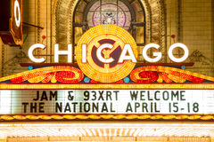 Teatro de Chicago Imagens de Stock Royalty Free