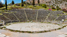 Teatro de Delphi Fotos de archivo