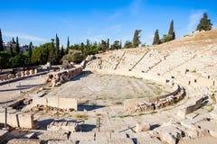 Teatro de Dionysus, acrópolis fotografía de archivo