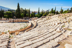 Teatro de Dionysus, acrópolis imagen de archivo