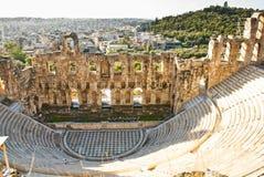 Teatro de Dionysus - Atenas Grecia fotografía de archivo
