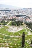 Teatro de Dionysus imágenes de archivo libres de regalías