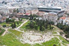 Teatro de Dionysus fotografía de archivo