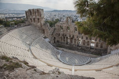 Teatro de Dionysus em Atenas Foto de Stock Royalty Free
