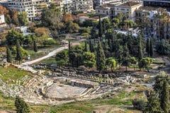 Teatro de Dionysus em Atenas Fotografia de Stock Royalty Free